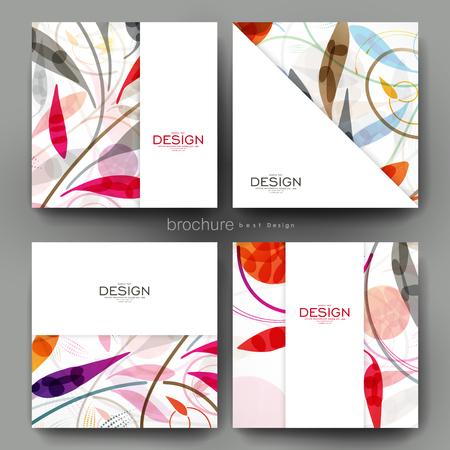 花飾りベクトル パンフレット テンプレート。チラシのレイアウト。創造的なモダンなデザイン