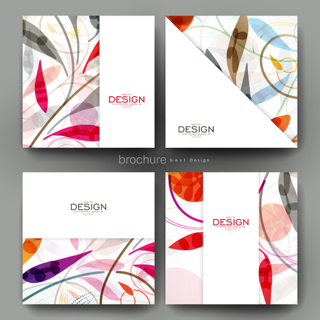 floral ornament vector brochure template. Flyer Layout. Creative modern design Ilustracja