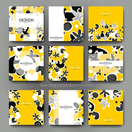 illustration editable: abstract vector brochure template. Flyer Layout. Creative modern design