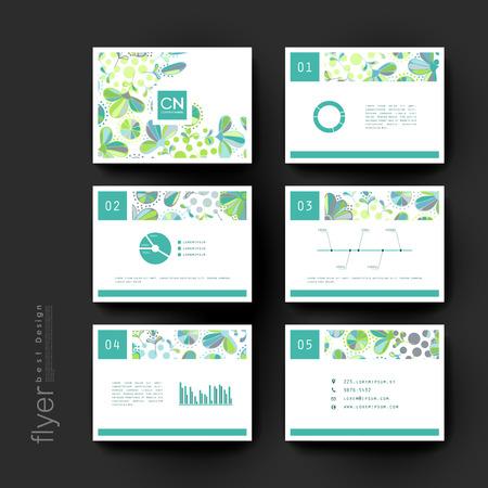 floral ornament vector brochure template. Flyer Layout. Creative modern design Vektoros illusztráció