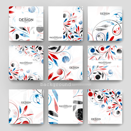 vector ornament: floral ornament vector brochure template. Flyer Layout. Creative modern design Illustration
