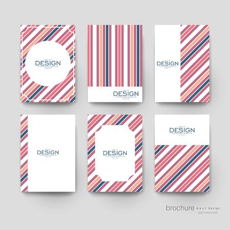 abstract vector brochure template. Flyer Layout. Creative modern design Vektoros illusztráció