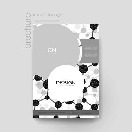 carpeta: molécula de ADN plantilla de folleto del vector. Disposición folleto. moderno diseño creativo