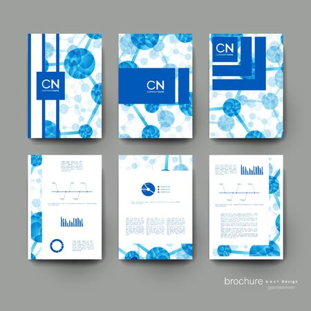 macromolecule: DNA molecule vector brochure template. Flyer Layout. Creative modern design Illustration