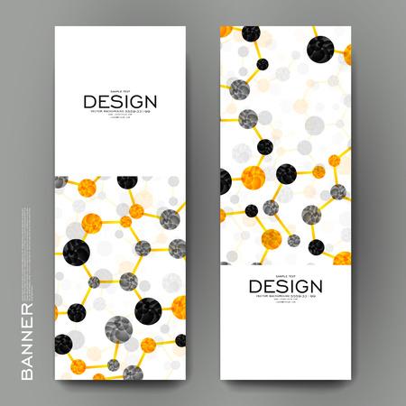 alternating organic: Beautiful banner vector template with DNA molecule background. Creative modern design Illustration