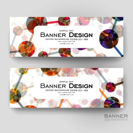 bases: Beautiful banner vector template with DNA molecule background. Creative modern design Illustration