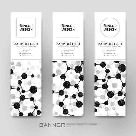 alternating: Beautiful banner vector template with DNA molecule background. Creative modern design Illustration