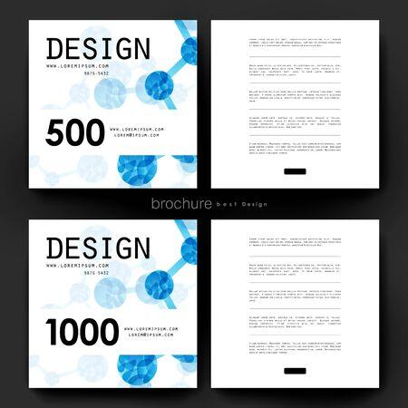 alternating: DNA molecule vector brochure template. Flyer Layout. Creative modern design Illustration
