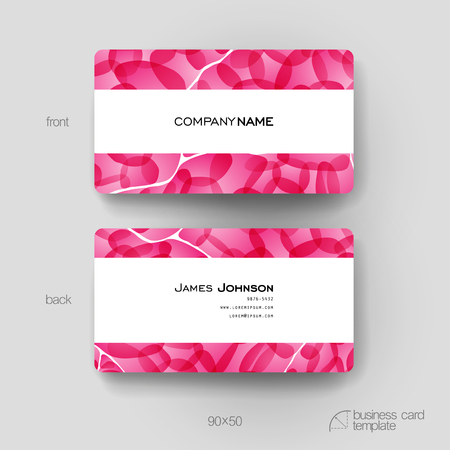 varied: Business card vector template with abstract background. Creative modern design Illustration