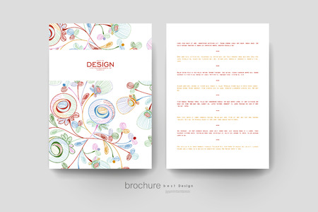 varied: floral abstract vector brochure template. Flyer Layout. Creative modern design