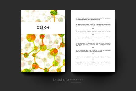 alternating organic: DNA molecule vector brochure template. Flyer Layout. Creative modern design Illustration