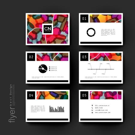 varied: abstract vector brochure template. Flyer Layout. Creative modern design