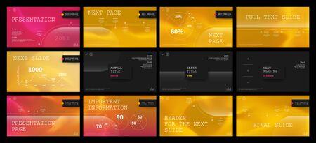 Conception de modèle de présentation. Infographie vectorielle. Utilisation dans le dépliant de présentation et le dépliant rapport d'entreprise marketing bannière de rapport annuel de publicité. Modèle polyvalent pour la diapositive de présentation.