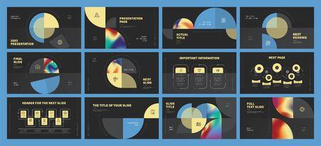 Presentation template design. Vector infographics. Use in Presentation flyer and leaflet corporate report marketing advertising annual report banner. Multipurpose template for presentation slide.