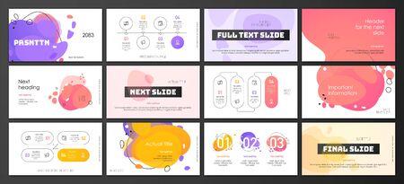 Modello di presentazione design Vettoriali
