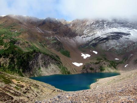 rockies: tiny lake in Canadian Rockies, British Columbia