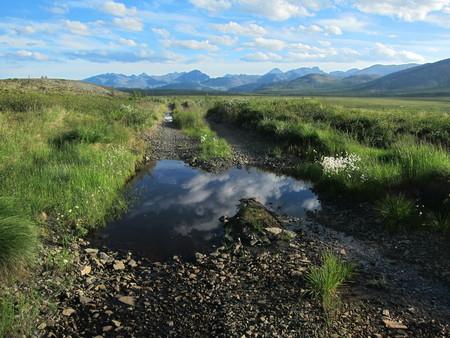 siberia: road leading to Jack London lake in Siberia, Russia