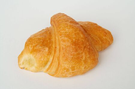 sapid: crackling croissants with cheese a close up Stock Photo