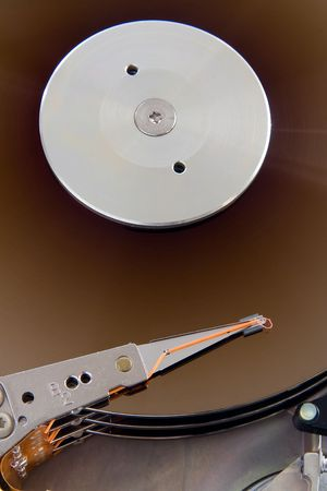 fixed disk: Close up of a old fixed disk drive (hard disk)