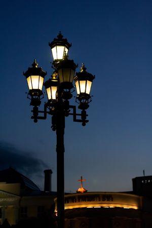 The Street Lantern Lighting in the Night