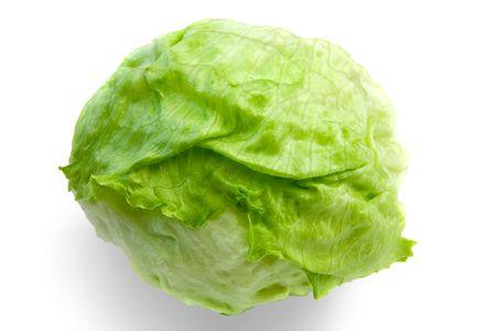 Iceberg Lettuce with Clipping Path Zdjęcie Seryjne - 778863