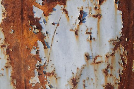 rustiness: Photo of the texture of rusty painted metal 3