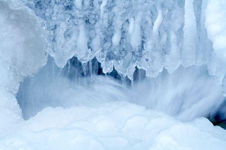 Frozen Waterfall from Altay Region, Western Siberia Stock Photo - 797630