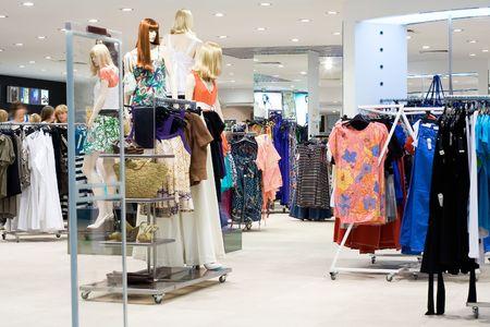 Shop clothes interior