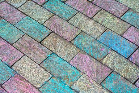 Colored brick walkway 2