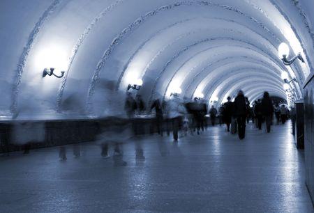 Subway. Underground pedestrian crossing, motion blur Stock Photo - 1746302