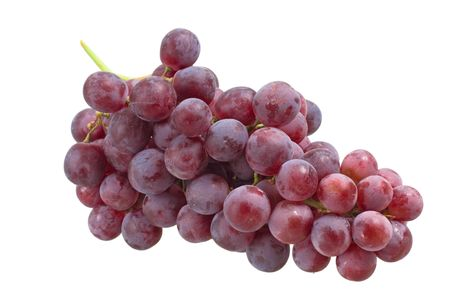 Grape cluster isolated on white background