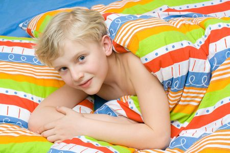 Child on the bed Stock Photo - 2407720