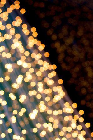 Defocus of golden lights Stock Photo - 3931727