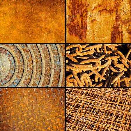 Rusty metallic surfaces collection for design Stock Photo - 4415363
