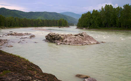 altay: Katun river and mountains. Altay. Russia