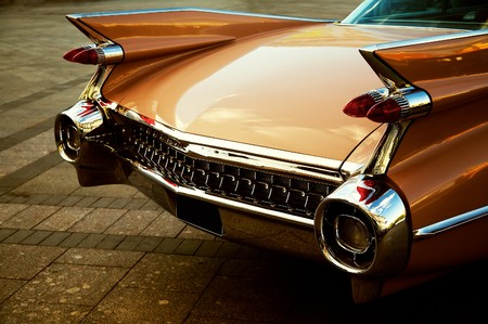 Back of vintage car in sepia tone Stock Photo - 6937359
