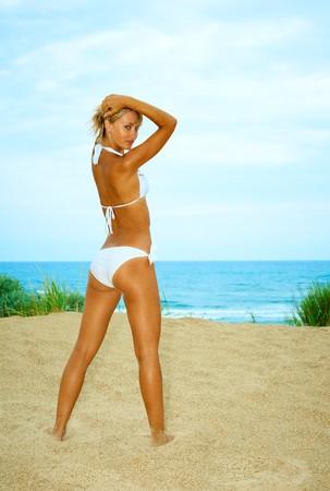 Beautiful woman in bikini photo