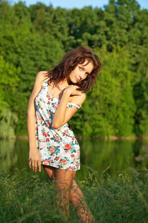 Young sexy woman posing outdoors Stock Photo - 7274575