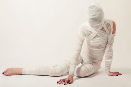 Young beautiful woman with bandage Zdjęcie Seryjne