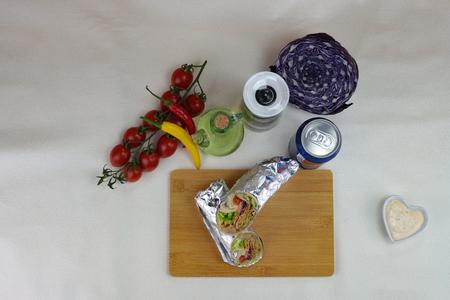 fresh kebab product on table