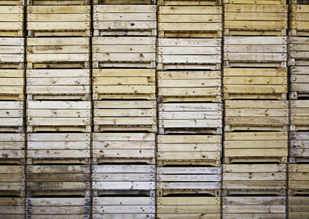 Wooden boxes for fruit Stock Photo