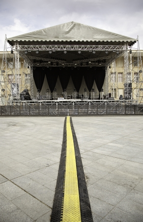 concert stage: Concert stage, detail of a stage, concert, music, rock