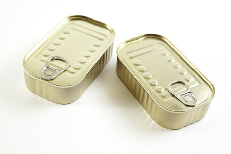 Two cans of sardines, canned product detail, method of preservation, food prepared