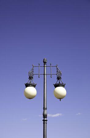 outdoor lighting: Streetlight city, detail of decoration in the city, instrument lighting, outdoor