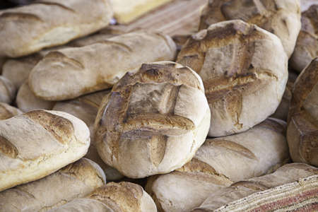 Traditional baked bread, detail daily staple, cereal-based food, food Stock Photo - 18828134