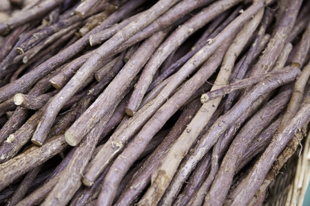 Palos licorice, licorice root detail, raw food for biting and sucking, diet Stock Photo - 18828396