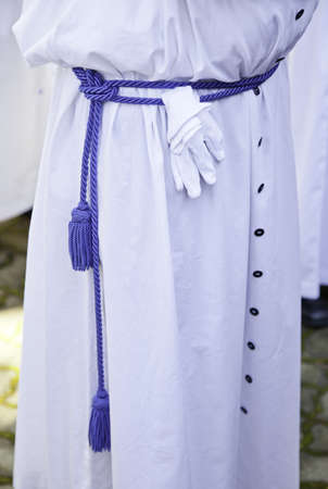 holy thursday: Easter suit, detail of clothing a penitent in a Christian tradition
