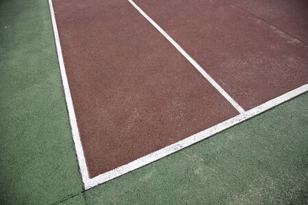 Tennis Court, detail of a track to play tennis, detail texture background with sport photo