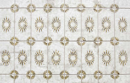 made in portugal: Former Portuguese tiles, antique ceramic detail, classic art portugal Stock Photo