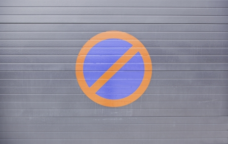 No Parking Sign, detail of an information signal in the city